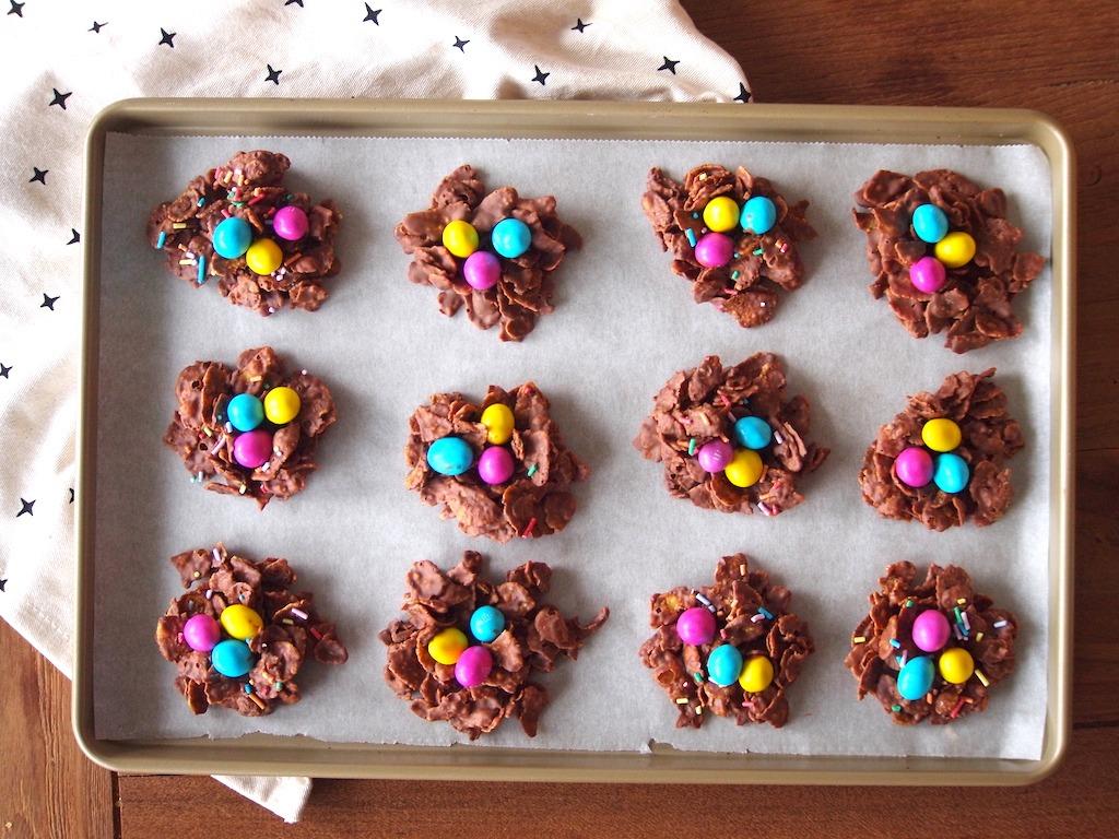 Recept paas chocolade nestjes