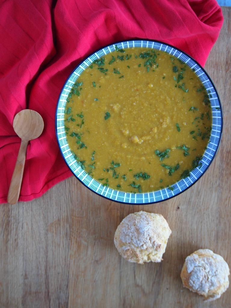 Pompoen Linzen soep