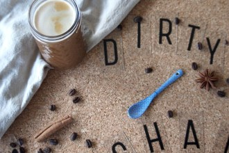 Homemade Dirty Chai Latte met koffie