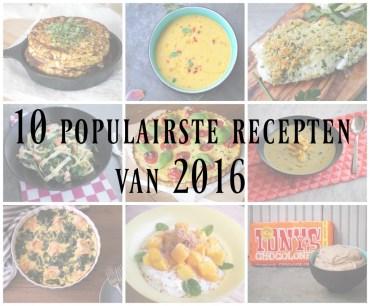 10 populairste recepten van 2016