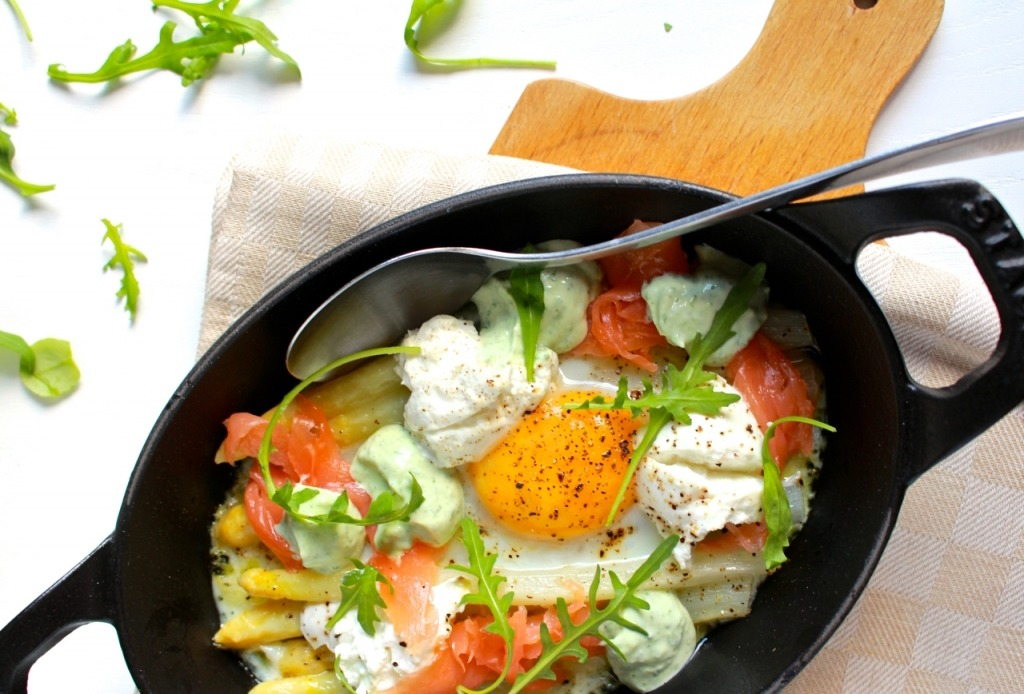 asperge salade met geitenkaas