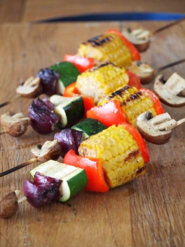 vegetarische shaslicks van de bbq