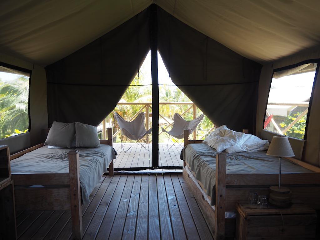 Otentic Mauritius tent slaapplekken