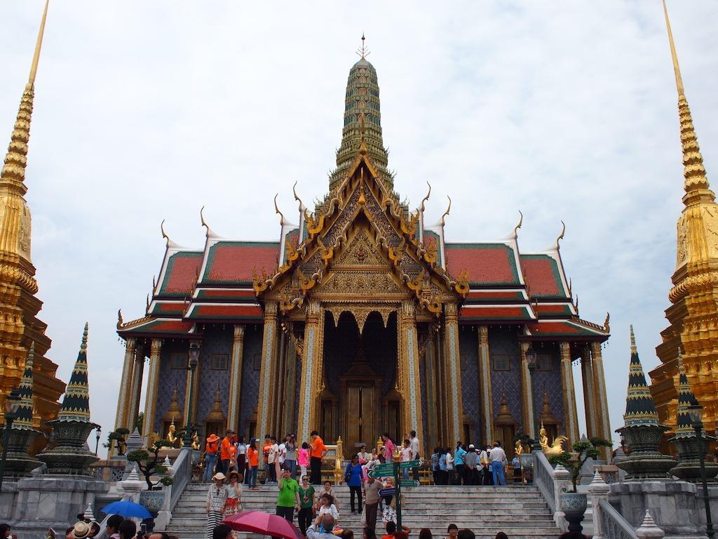 Drukte bij het grand palace bangkok