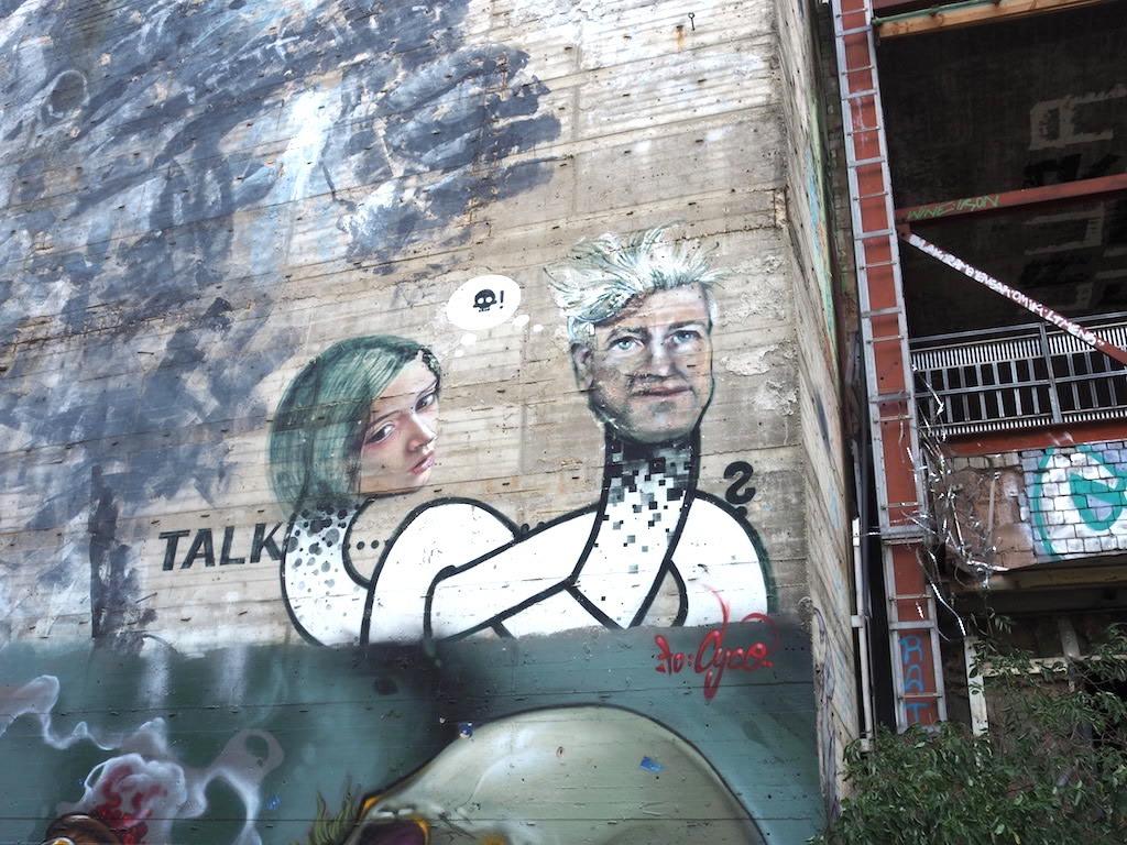 Street art bij Teufelsberg Berlijn