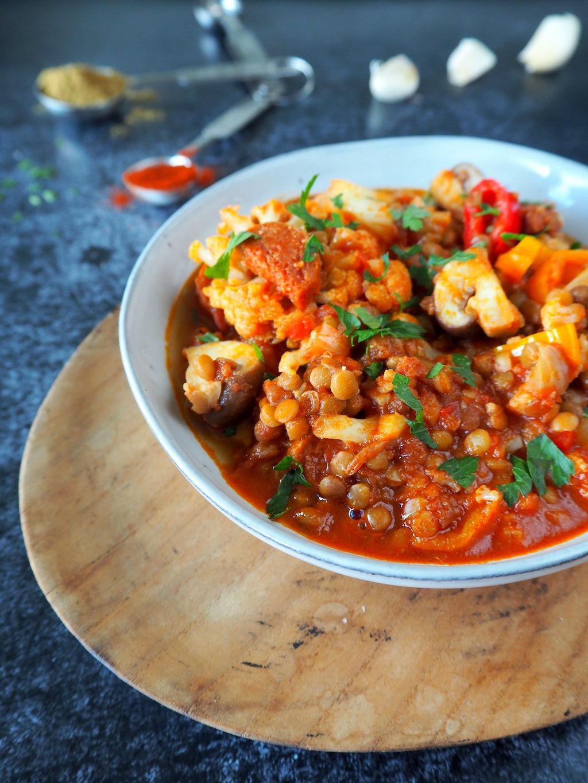 Chorizo linzen stoof
