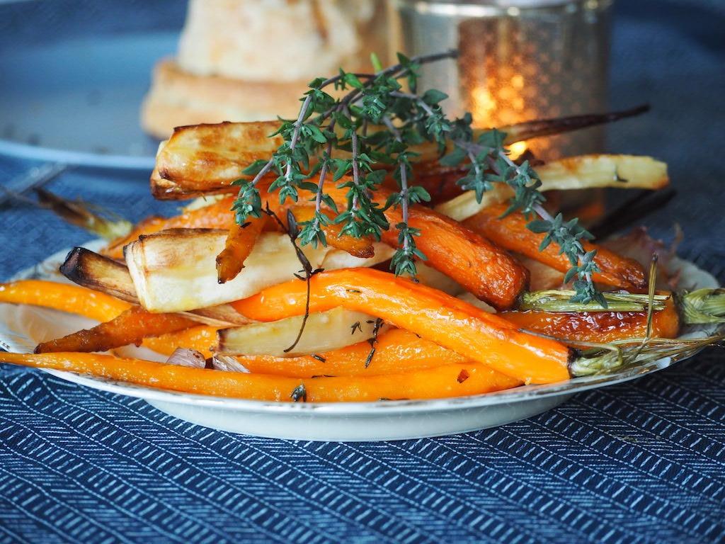 Pastinaak en wortel uit de oven