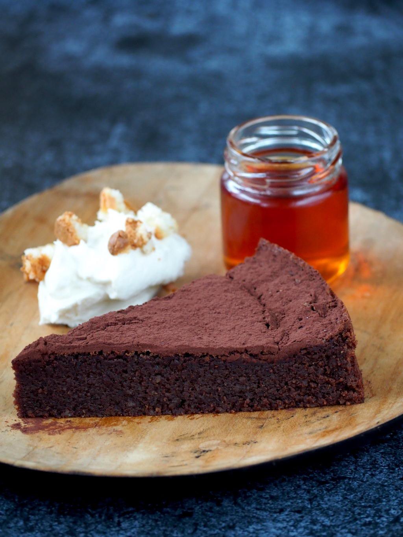 chocolade amaretto taart