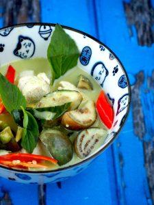 Echte thaise groene curry