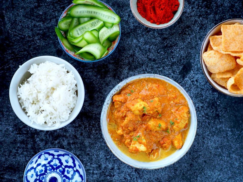 Tikka Masala kip uit de instant pot