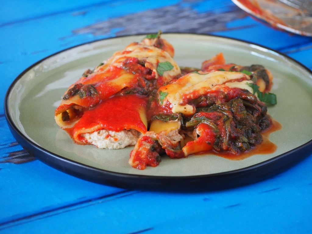 Cannelloni met tonijn en Boursin