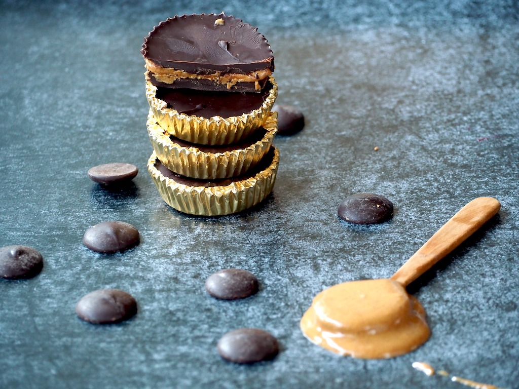 Chocolade pindakaascups koolhydraatarm