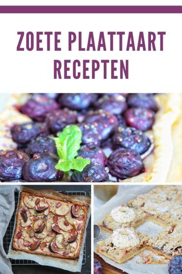 Zoete Plaattaart recepten