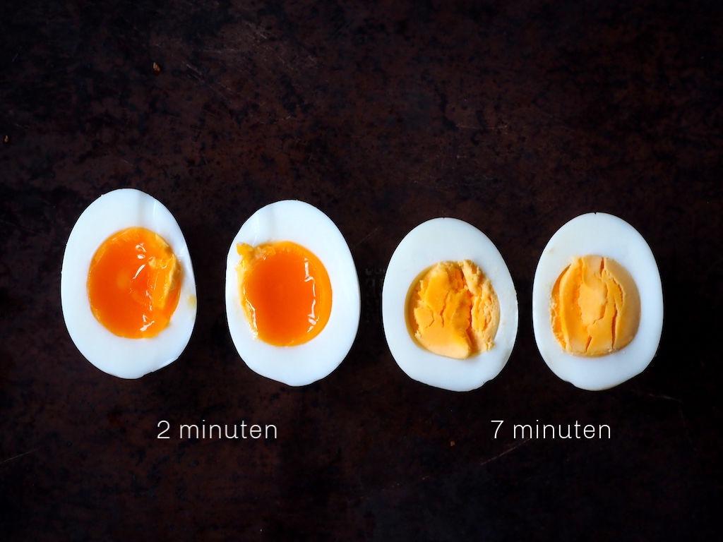 Eieren gekookt in instant pot met tijden