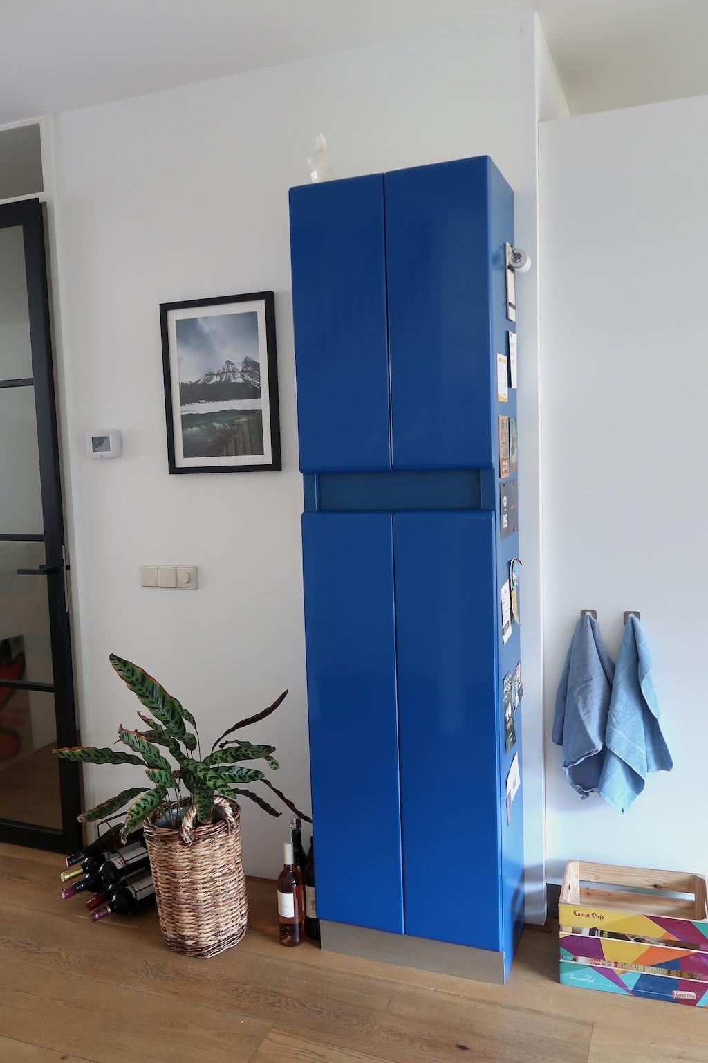 Loewy American kitchen voorraadkast blauw