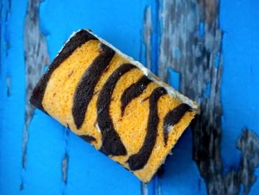 Rolcake met tijgerstrepen