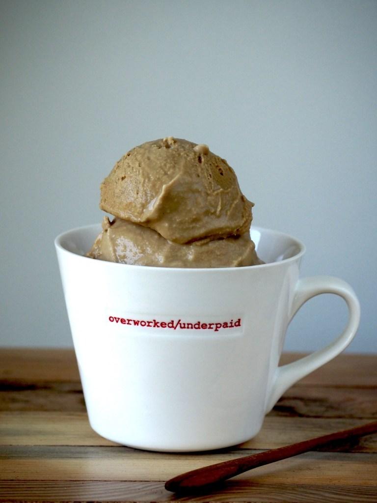 romig koffie ijs