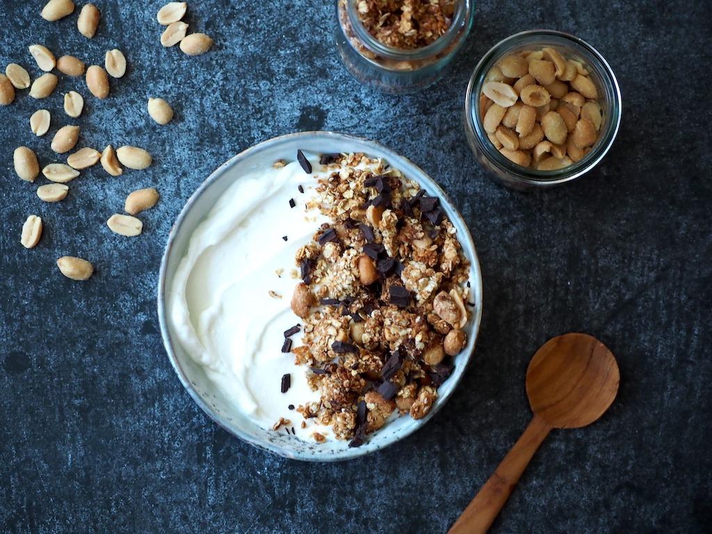Pindakaas granola met pinda