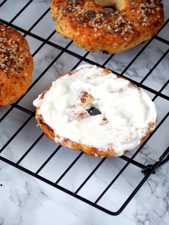 bloemkool bagel met cream cheese