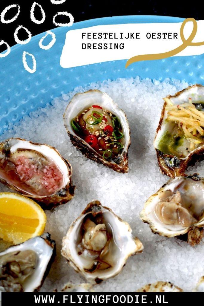 Feestelijke oesterdressing pin
