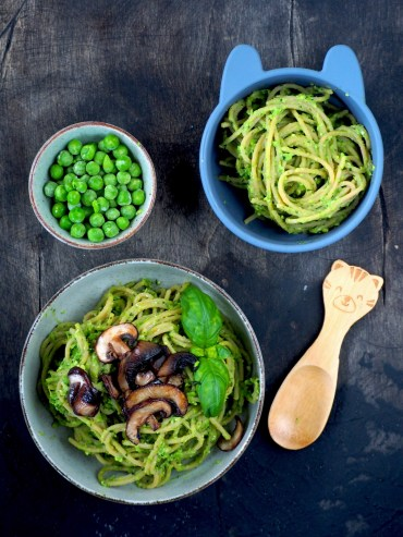 Kidsproof pasta pesto