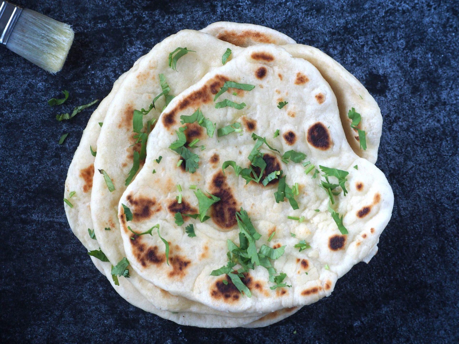 Indiase naan recept zonder oven