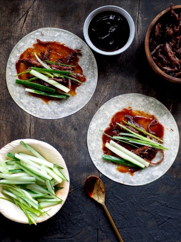 Recept Duck Pancakes hoisin sauce