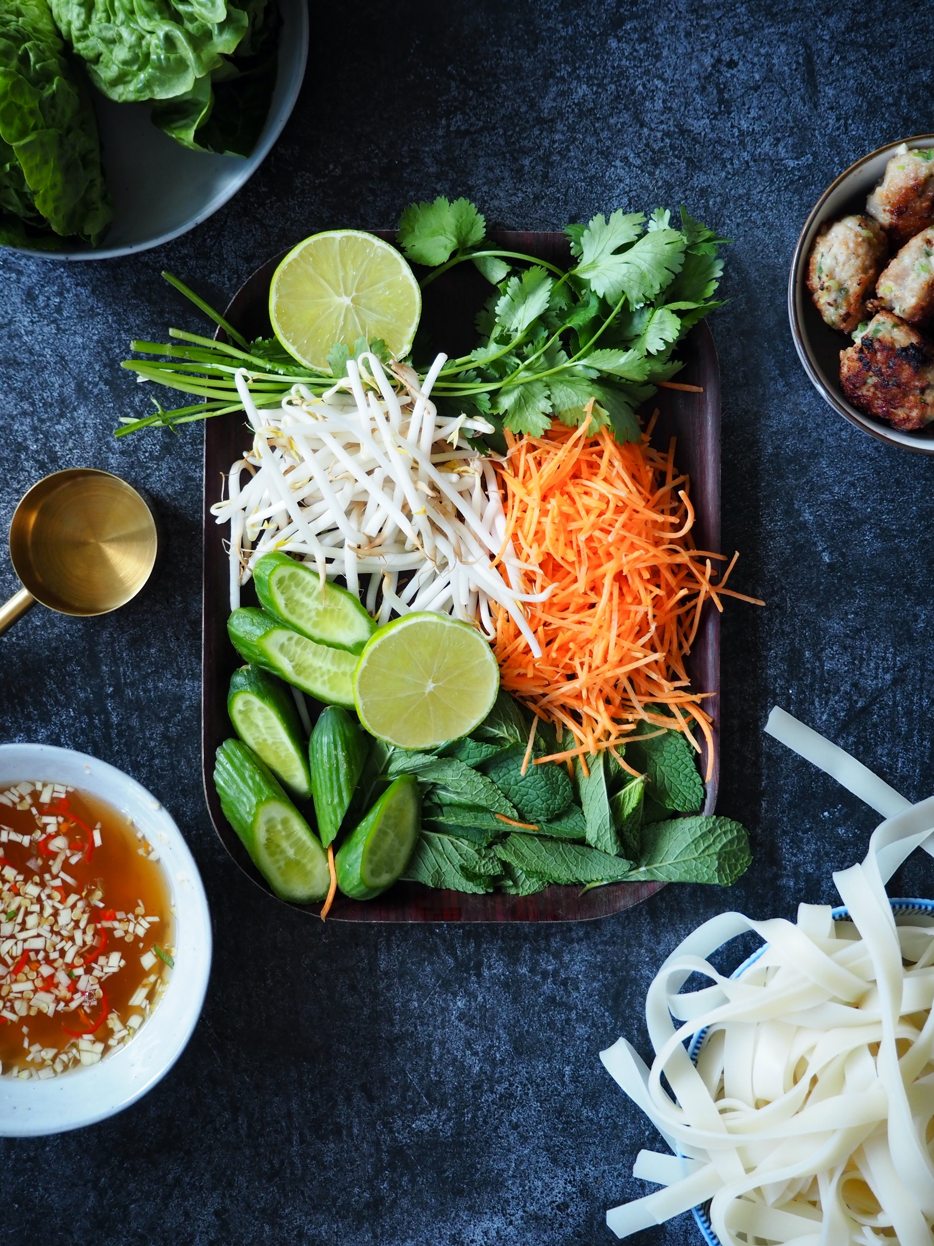 Vietname noodle bowl bun cha