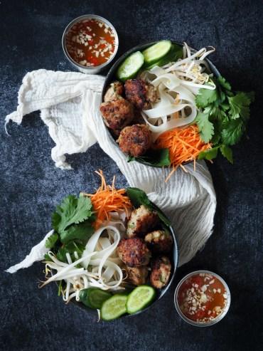 Vietnamese bun cha bowl