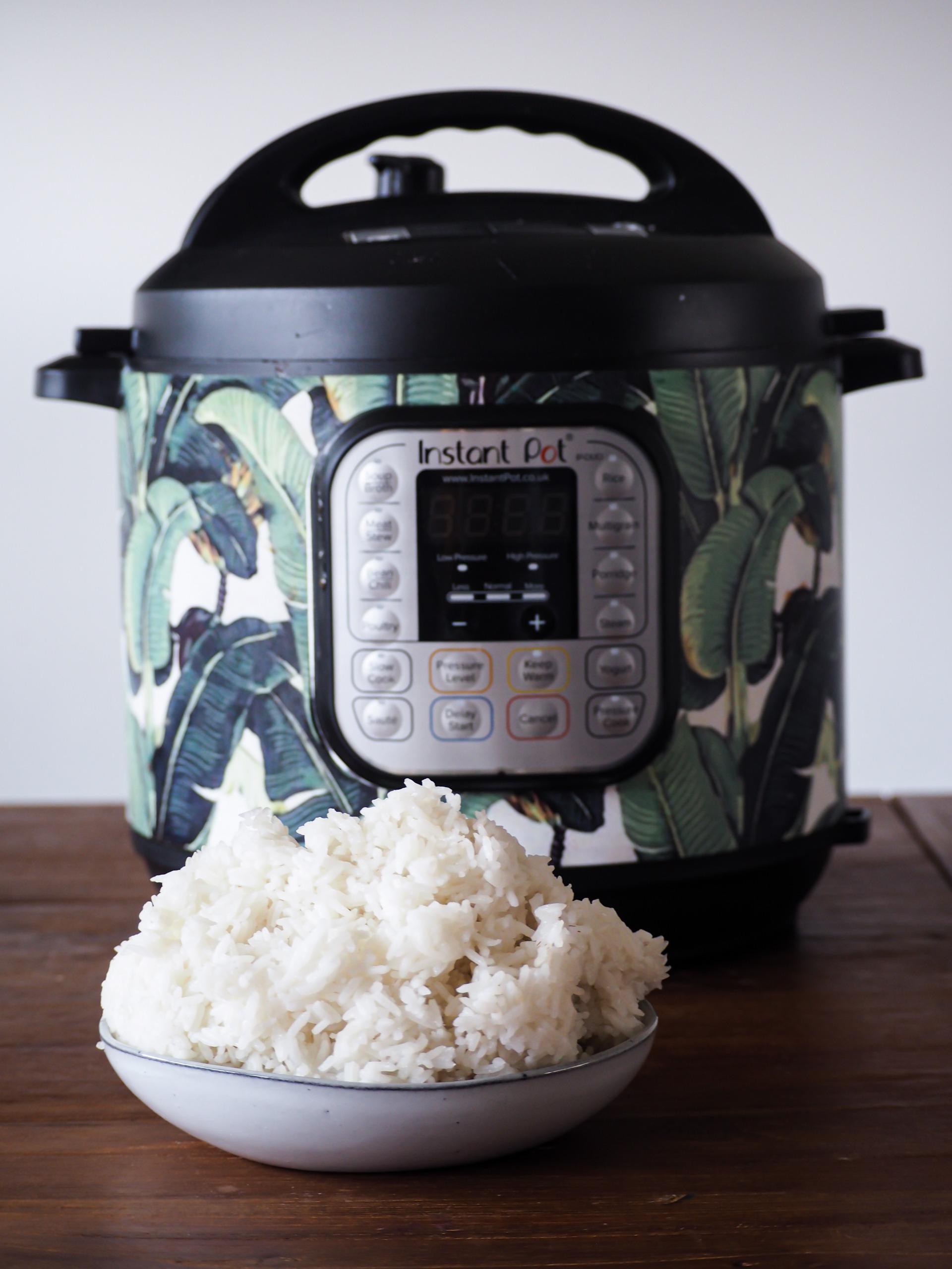 witte rijst bereiden in de instant pot