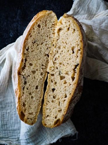 structuur no knead bread
