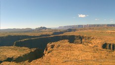 A low-level look at Horseshoe Bend near Lake Powell in Northern Arizona.