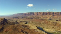 A view of the Vermilion Cliffs and Lee's Ferry in Northern Arizona.