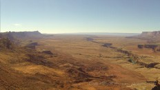 A view down Marble Canyon from high over Lees Ferry in Northern Arizona.