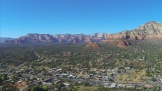 A view of Sedona just after takeoff from Sedona Airport.