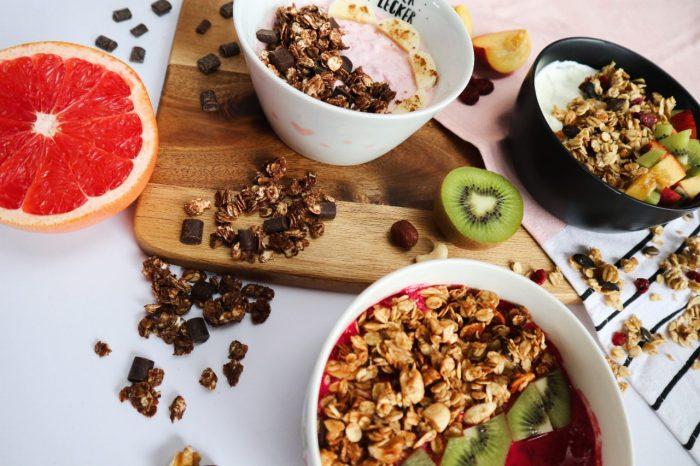 Granola einfach selber machen - 3 verschiedene Sorten Knuspermüsli