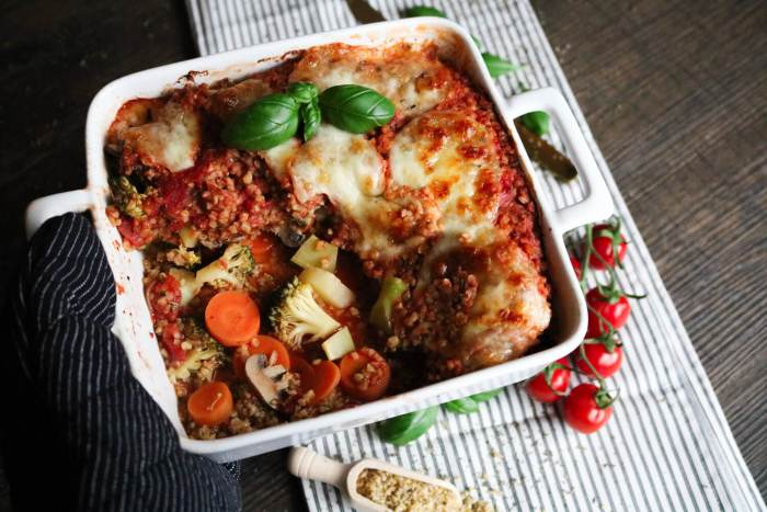 Vegetarischer Bulgur-Gemüse-Auflauf