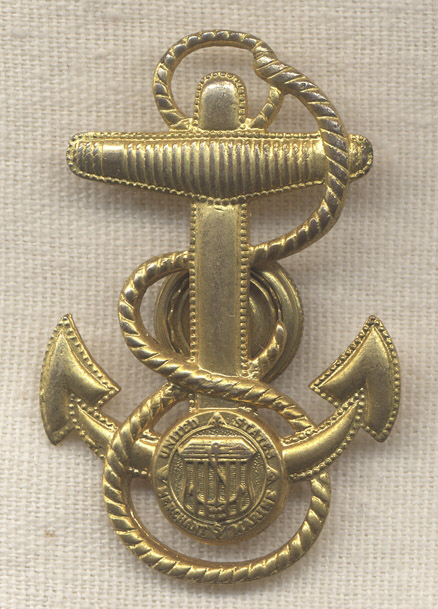 Very Rare WWII Merchant Marine Petty Officer Cap Badge By Vanguard Flying Tiger Antiques Online