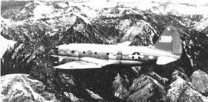 C-46 transport over the 'Hump'