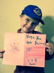 Lebisky_Quinn_4th-gen_grandson of Harry White_dad=David Lebisky_card to Hank Tursky