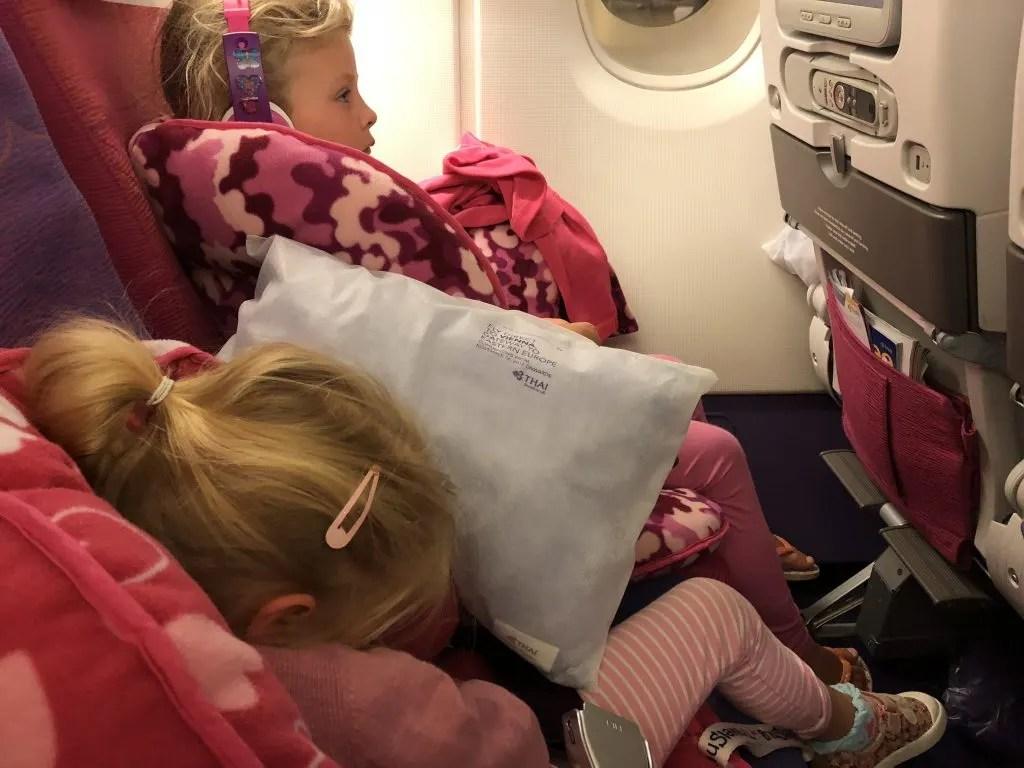 toddler sleep on a plane