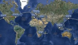Luxury family adventure Diessner's route map