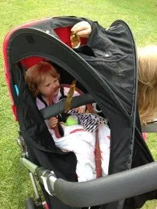 Fly Babee bassinet cover review as stroller cover