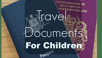 travel documents for children