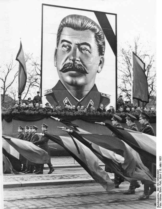 Joseph Stalin portrait march