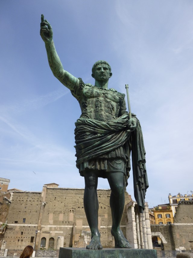 A statue of Augustus - the first true Roman Emperor