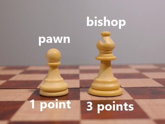 Bishop Chess Piece Point Value (FlyIntoBooks.com)