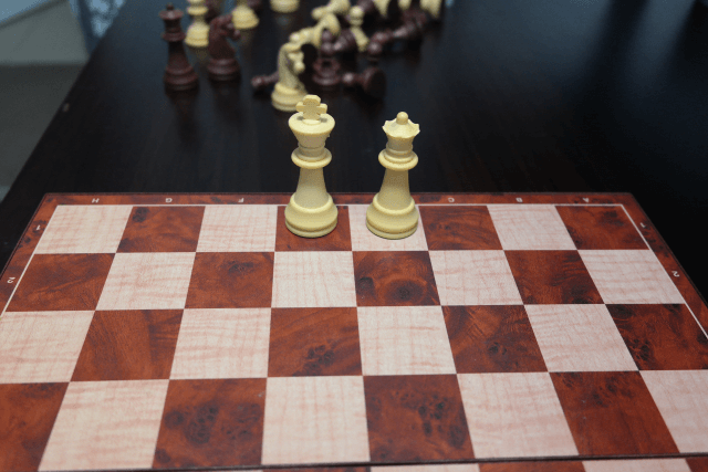Chess Board Setup Image for the White Queen and King