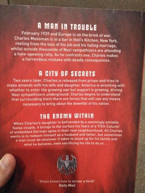 Andrew Gross - The Fifth Column - (Spy Thriller) back cover