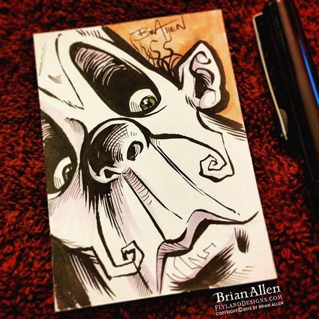 Evil Clown ink Sketch